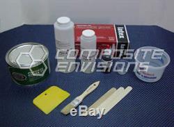 Carbon Fiber/Blue Kevlar Part Wrapping Kit w Clear Epoxy 2x2 Twill Medium Kit
