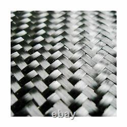 Carbon Fiber Cloth 3K, 5.7oz x 50 2x2 Twill Weave Fabric 10 Yard Roll