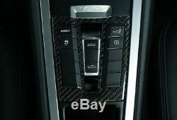 Carbon Fiber Console Panel Porsche 991 Carrera, 981/982 Cayman/Boxster Twill