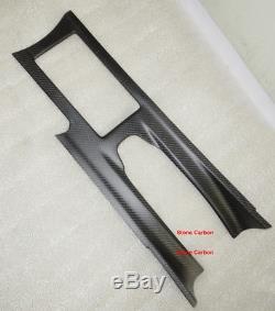 Carbon Fiber Console Trim Cover Twill Matte Finish For 09-15 Nissan GTR R35 LHD