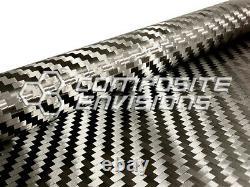 Carbon Fiber Fabric 2x2 Twill Spread Tow 5mm Tow Width 40/101.6cm 1.98oz/67gsm