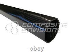 Carbon Fiber Octagonal Tubing 2x2 Twill Gloss Finish 38