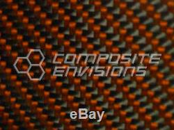 Carbon Fiber Panel Made with Kevlar Orange. 012/. 3mm 2x2 twill-48x96