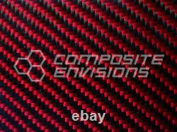Carbon Fiber Panel Made with Kevlar Red. 022/. 56mm 2x2 twill-24x24