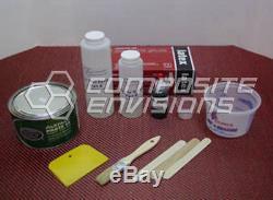 Carbon Fiber/Red Kevlar Part Wrapping Kit w Clear Epoxy 2x2 Twill Medium Kit