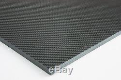 Carbon Fiber Uni Sheet, Twill Satin Finish 12 x 24 x 5/16 LOT 175