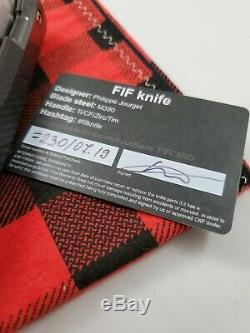 Custom Knife Factory FIF23 Twill Carbon Fiber Zirc Knife