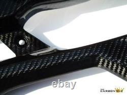 Ducati 848 1098 1198 Carbon Belly Pans In Twill Gloss Weave Fibre Fiber Bellypan