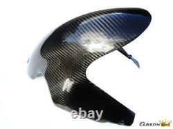 Ducati 848 1098 1198 Carbon Front Mudguard Fender In Twill Weave Gloss Fibre