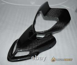 Ducati Hypermotard 769 1100 Carbon Fibre Front Fairing Twill Gloss Fiber Nose