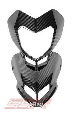 Ducati Hypermotard 796 Headlight Beak Intake Cowl Fairing Twill Carbon Fiber