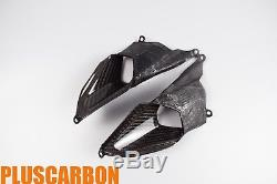 Ducati Panigale 899 1199 Twill Carbon Fiber Rear Seat Air Intake Vents GLOSSY