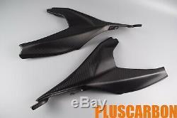 Ducati Panigale 899 Twill Carbon Fiber Under Seat Covers Panels Matt Finishing
