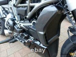 Ducati Xdiavel Carbon Radiator Side Panel Trim Guards In Twill Gloss Fiber Fibre