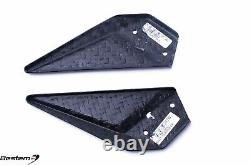 EBR 1190 RX SX Carbon Fiber Rearset Heel Plates Guards, Twill, 100%