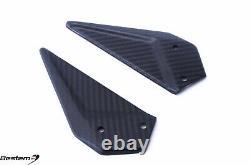 EBR 1190 RX SX Carbon Fiber Rearset Heel Plates Guards, Twill, 100%, Matte Finis