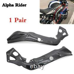 For 2015-2018 BMW S1000RR Frame Protector Covers Fairing Carbon Fiber Twill 2016