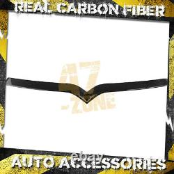 For 2016-2021 Tesla Model S Front Real Carbon Fiber Twill Grille Covers Trim