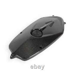 For BMW R NINET NINE T R9T Engine Housing Water Cooler Cover Twill Carbon Fiber