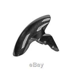 For BMW S1000RR 2009-2018 Carbon Fiber Front Fender Mudguard Hugger Cover Twill