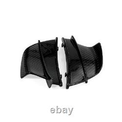 For Ducati Panigale V4 2018 2019 Winglets Air Deflector 100% Carbon Fiber Twill