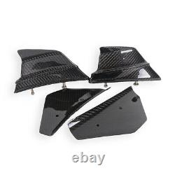 For Ducati Panigale V4 V4S Carbon Fiber Motorcycle Winglets Air Deflector Twill
