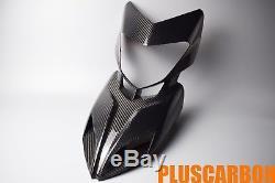 Front Fairing Ducati Hypermotard 821 939 Twill Carbon Fiber Nose Fairing Glossy