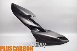 Front Fairing Ducati Hypermotard 821 939 Twill Carbon Fiber Nose Fairing MATT