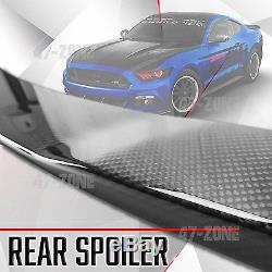 Gloss Real Carbon Fiber Factory Style Rear Spoiler Wing For 15-17 Ford Mustang