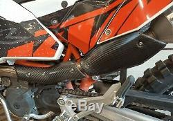 KTM 690 SMC Enduro Carbon Fiber 2x2 Twill Heat Shield Hecho en la EU