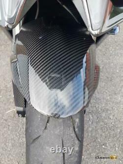 Kawasaki H2 & H2r Carbon Fibre Front Mudguard In Twill Gloss Weave Fender Fiber