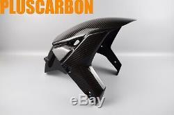 Kawasaki NINJA H2 SX SE Twill Carbon Fiber Front Fender / Mudguard Glossy
