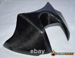 Kawasaki Z1000 Carbon Fibre Tank Cover 2010-2013 Twill Weave Gloss Abs Fiber