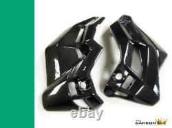 Kawasaki Z900 2017 Onwards Carbon Fibre Engine Belly Pan Covers Twill Weave
