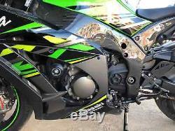 Kawasaki ZX10R ZX-10R 2016 2017 2018 2019 Carbon Fiber Frame Covers Twill Matt
