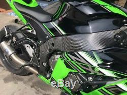 Kawasaki ZX10R ZX-10R 2016+ Carbon Fiber Frame Covers Twill Glossy