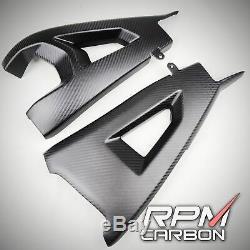Kawasaki ZX10R ZX-10R Z H2 Carbon Fiber Swingarm Covers Twill Matt