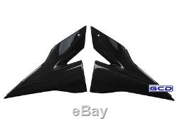 Kawasaki ZX10R ZX1000 Side Trim Cover Panel Fairing Set 100% Twill Carbon Fiber