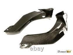 Kawasaki Zx10r 2011-15 Carbon Fibre Upper Fairing Infill Panels In Twill Gloss