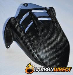 Kawasaki Zx6r Ninja 2009 2012 Carbon Fibre Rear Hugger / Mudguard In Twill