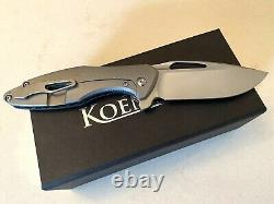 Koenig Arius Patterned Blue Carbon Twill with Burnished Blade & Polished Flats