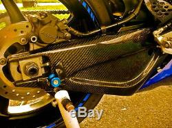 Lacomoto Twill Carbon Fiber Contoured Swingarm Covers 2004-2006 Yamaha YZF-R1