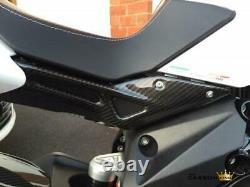 MV Agusta Brutale 800 Dragster Carbon Fibre Under Seat Side Panels Fiber Twill