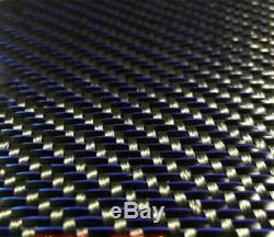 Metallic 3K Carbon Fiber Mixed Fabric Cloth 250gsm Twill Weave 10 meter Length