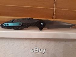 NEW Will Moon Stormcrow 3k Twill Carbon Fiber custom folding knife