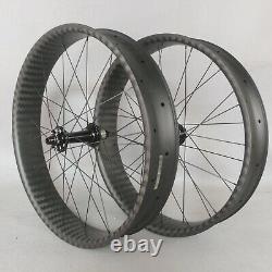 New 26er carbon wheelset fat bike 6 bolt 6k twill XD carbon rims wheels 25100mm