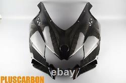 Nose Fairing Kawasaki NINJA H2 SX SE Twill Carbon Fiber Upper Fairing Glossy