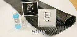 REAL CARBON FIBER FAST EPOXY UV RESIN KIT 24 oz 2x2 Twill 200 GSM 50 x 36