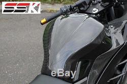 SSK Carbon Fiber Tank Pad for KAWASAKI Ninja300 Twill Glossy