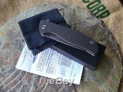 Shirogorov Hati Ti Frame Lock Black Twill Carbon Fiber Satin Plain Edge NEW